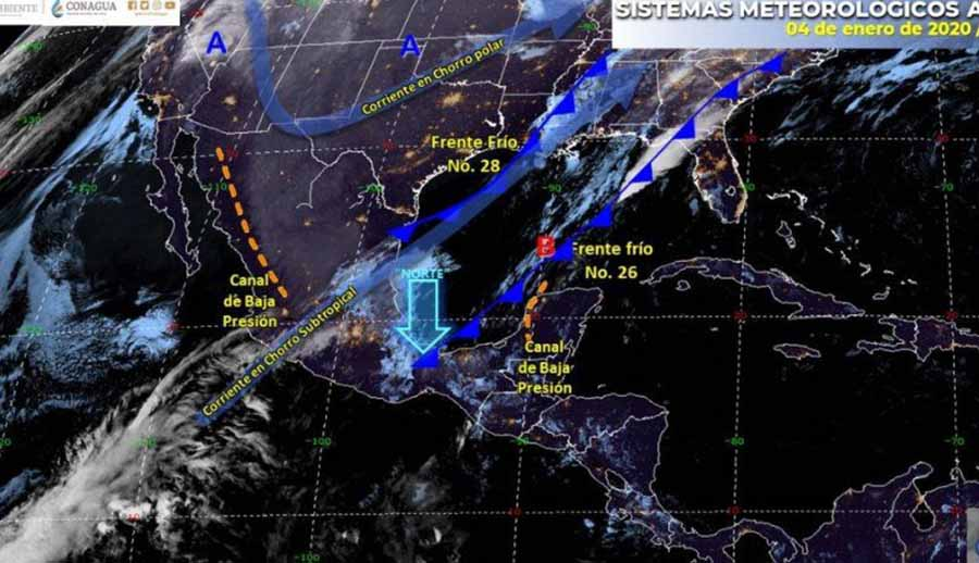 Pronostican fuertes vientos en el norte del país