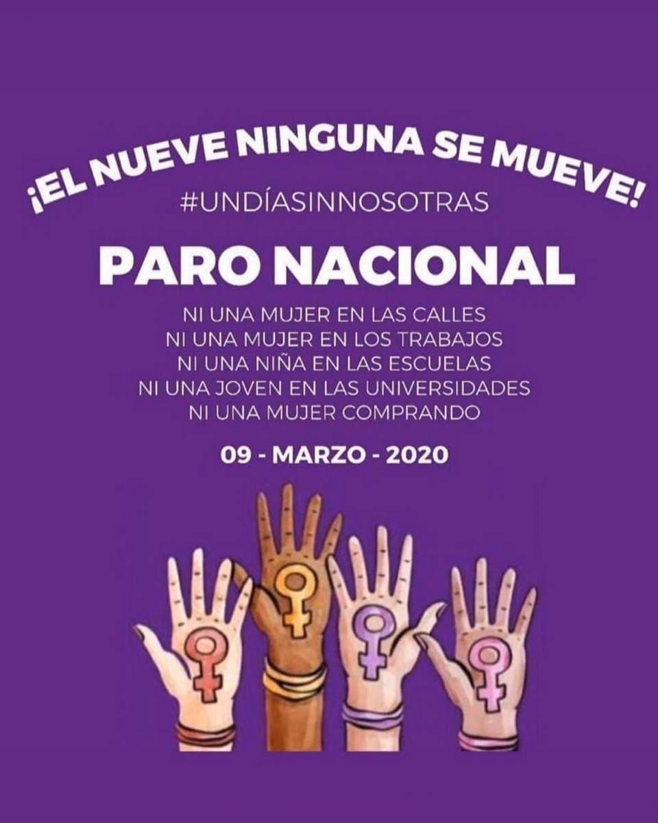 22 MILLONES DE MUJERES, A PARO NACIONAL