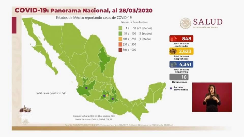 AL MOMENTO VAN 16 DECESOS EN MÉXICO