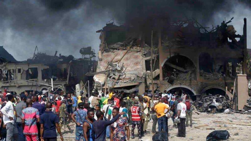 AL MENOS 15 MUERTOS POR EXPLOSIÓN EN LAGOS, NIGERIA