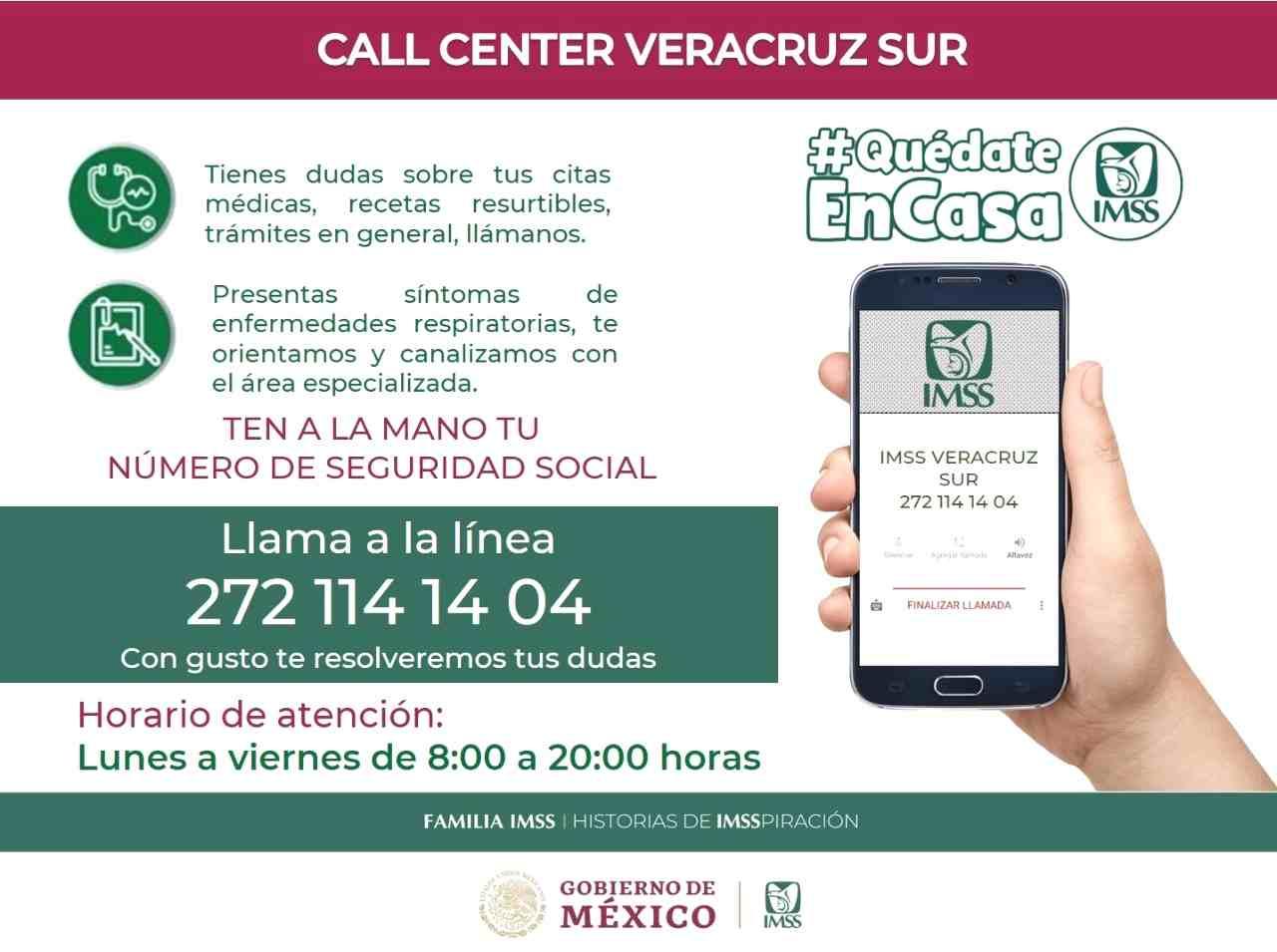 ABRE IMSS LÍNEA DE ATENCIÓN TELEFÓNICA