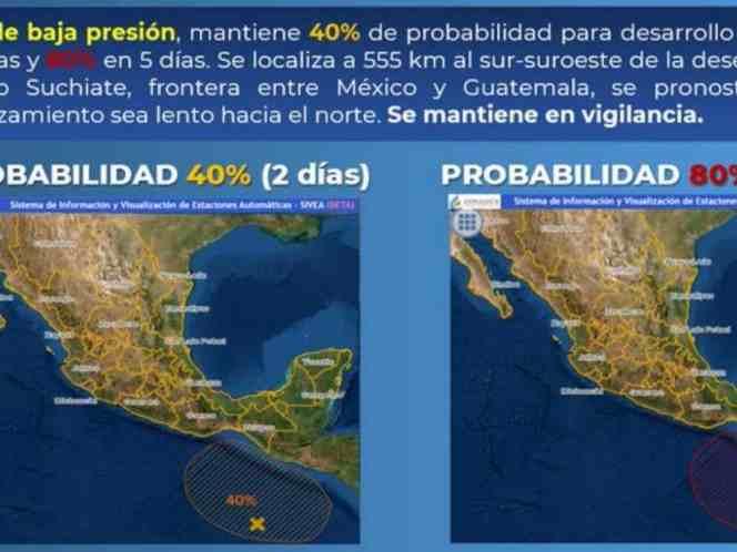 ALERTAN POR POSIBLE FORMACIÓN DE PRIMER CICLÓN EN EL PACÍFICO