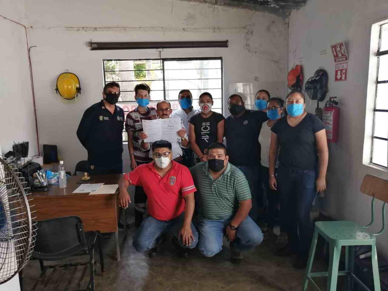 BOMBEROS DE FORTÍN AC, DE LOS PRIMEROS ACREDITADOS EN EL ESTADO