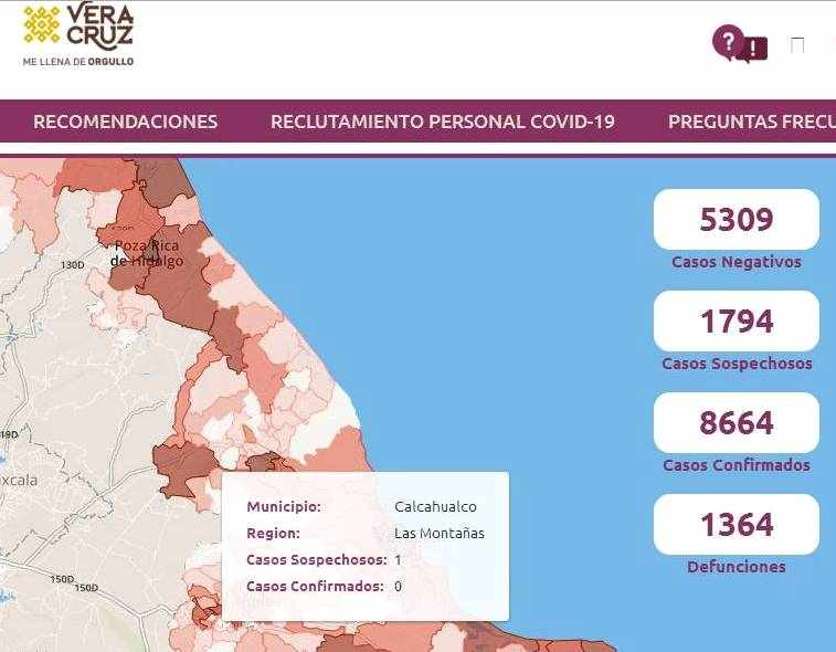 REPORTAN CASO SOSPECHOSO DE CORONAVIRUS EN CALCAHUALCO