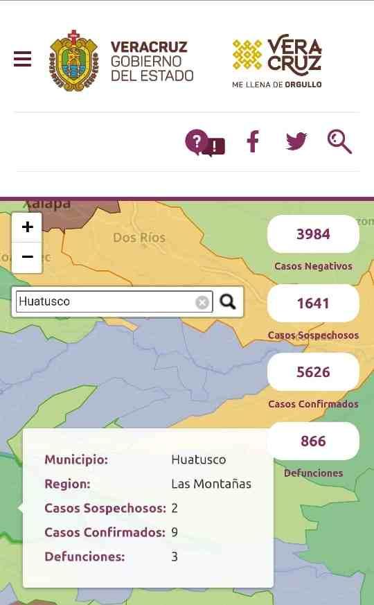 SUMAN TRES DEFUNCIONES EN HUATUSCO POR COVID