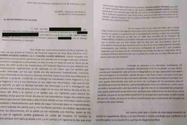 LO DISCRIMINAN Y CORREN DEL PUEBLO; HOSPITAL DIFUNDIÓ SU SALIDA AFIRMANDO QUE SUPERÓ EL COVID-19