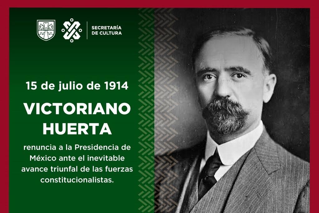CONFUNDE SECRETARÍA DE CULTURA DE LA CDMX A VICTORIANO HUERTA CON FRANCISCO I. MADERO