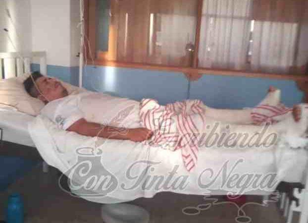 CONTINÚA HOSPITALIZADO CAMPESINO EMBESTIDO POR CAMIONETA