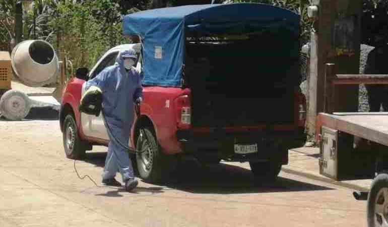 CONTINÚAN ACCIONES DE DESINFECCIÓN DE UNIDADES EN IXHUATLÁN