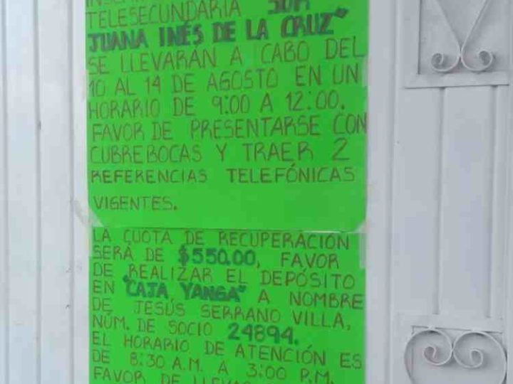 COBRAN HASTA MIL 500 DE INSCRIPCIÓN EN ESCUELAS PÚBLICAS