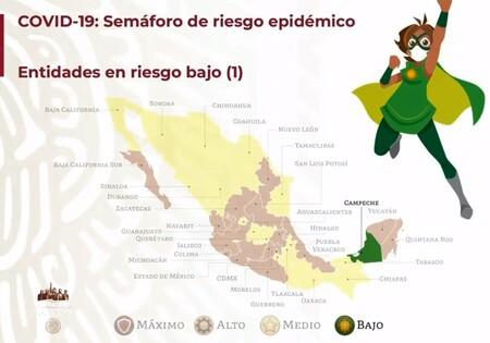 CAMPECHE, EL PRIMER ESTADO DE MÉXICO EN SEMÁFORO VERDE