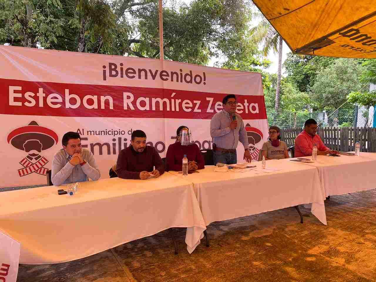 CON UNIDAD Y ORGANIZACIÓN ENFRENTAREMOS A LOS CORRUPTOS: ESTEBAN RAMÍREZ