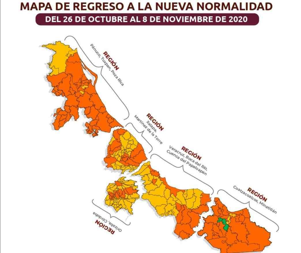 ZONA DE COSCOMATEPEC Y HUATUSCO REGRESAN A SEMÁFORO NARANJA