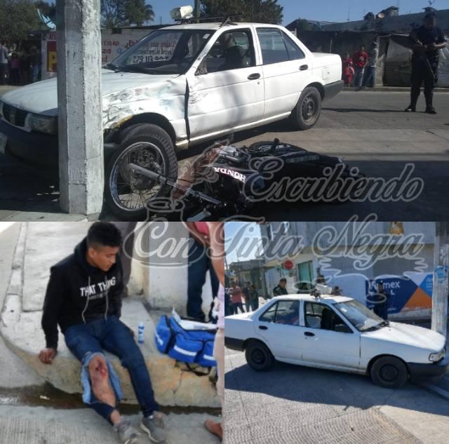 CHOCA AUTO CON MOTOCICLISTA