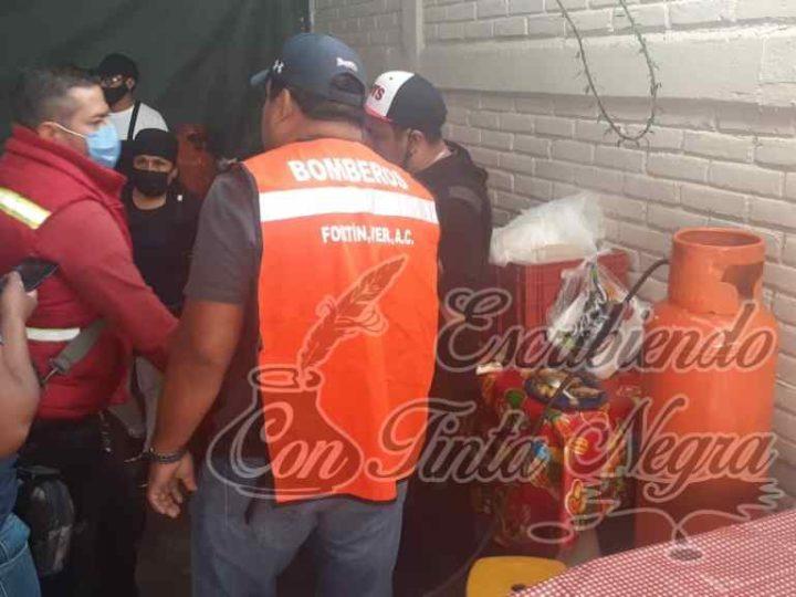 FUGA DE GAS EN TIANGUIS DE FORTÍN MOVILIZA A GRUPOS DE AUXILIO