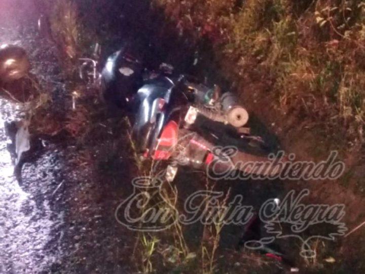 DERRAPA MOTOCICLISTA EN HUATUSCO