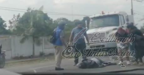 MUERE MOTOCICLISTA TRAS ACCIDENTE