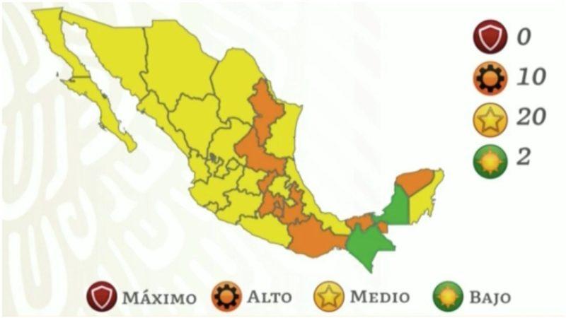 MÉXICO AVANZA A SEMÁFORO AMARILLO POR COVID-19