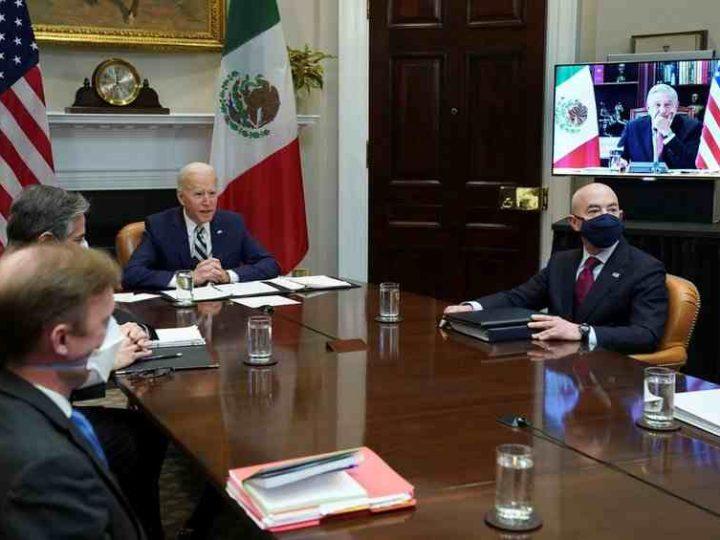 """EU TRATARÁ A MÉXICO """"COMO UN IGUAL"""", DICE BIDEN A AMLO EN PRIMERA REUNIÓN VIRTUAL"""