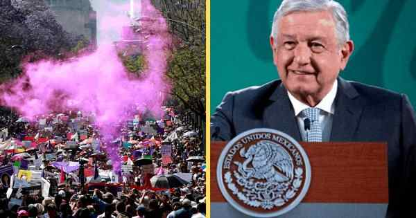 AMLO PIDE 'MANIFESTACIONES PACÍFICAS' POR EL DÍA DE LA MUJER
